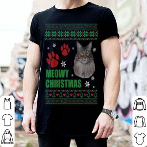 Original Meowy Christmas Maine Coon Cat Ugly Christmas Cat Lover sweater
