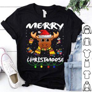 Original Merry Christmas Christmoose Funny Moose Reindeer Antler Gift shirt
