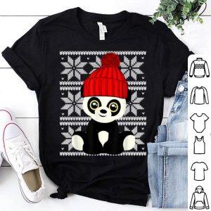 Original Ugly Christmas Cute Panda Toy Santa Hat Gift Present shirt