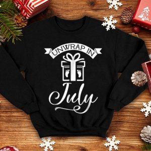 Original Unwrap In July Christmas Pregnancy shirt