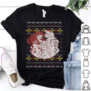 Premium Disney Princess Circle Group Shot Ugly Christmas shirt