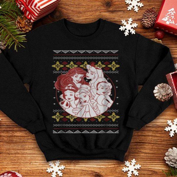 Premium Disney Princess Circle Group Shot Ugly Christmas shirt