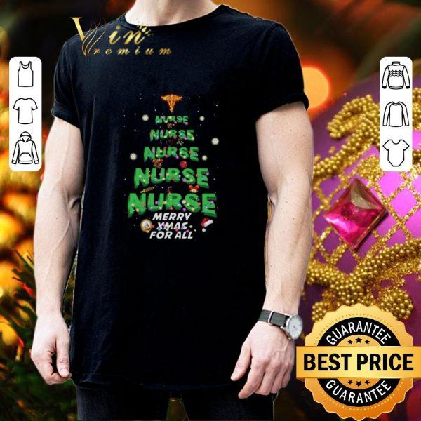 Premium Nurse Merry XMas For All Christmas shirt