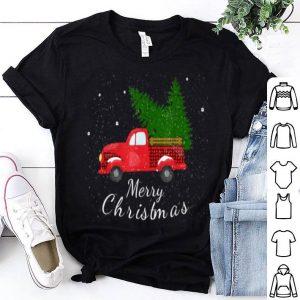 Premium Rustic Retro Farm Car Truck Wagon Christmas Fir Tree Snow shirt