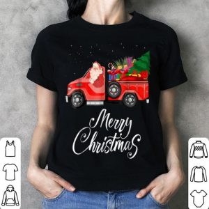 Premium Santa Red Truck Merry Christmas Tree & Gifts Vintage shirt