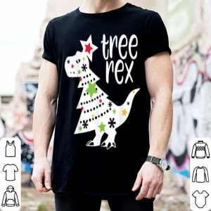 Premium Tree Rex Cute Funny T-Rex Dinosaur Christmas Kids Men Women shirt
