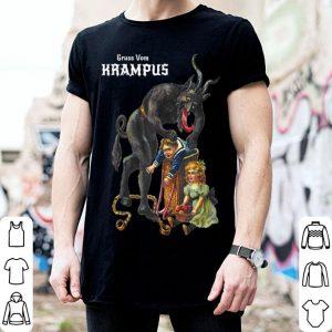 Pretty Greetings from Gruss Vom Krampus Demon Christmas Men shirt