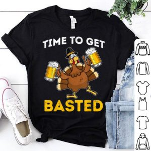 Pretty Time To Get Basted Thanksgiving Turkey Funny Drinking shirt