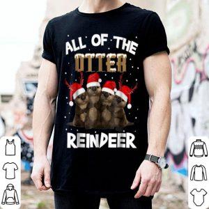 Top All Of Otter Reindeer Christmas Pajamas Xmas Gifts shirt