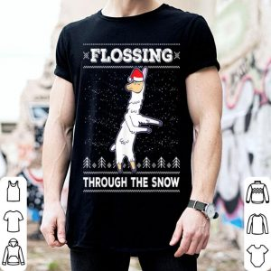 Top Flossing Llama Ugly Christmas Sweater Floss Tee Gift shirt