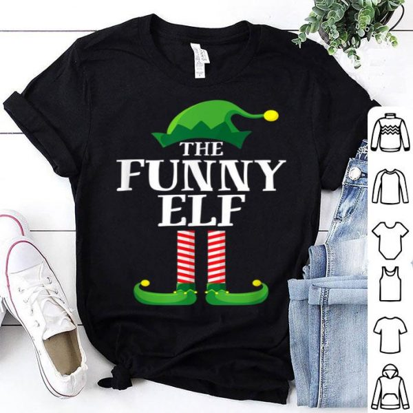 Top Funny Elf Matching Family Group Christmas Party Pajama sweater