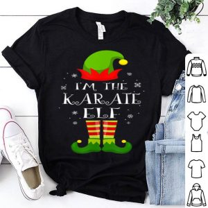 Top I'm The Karate Elf Matching Family Group Christmas shirt