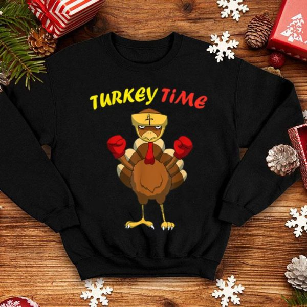 Top Turkey Time I Happy Thanksgiving Boxing Turkey shirt