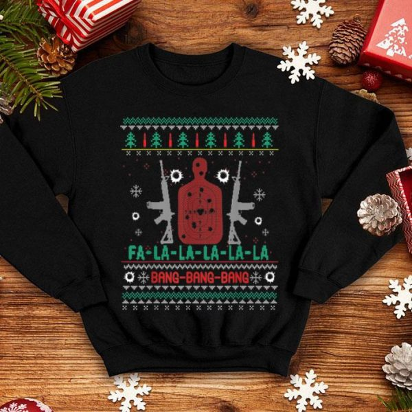Awesome Bang Bang AR-15 Gun Point Cool Christmas Gift Ugly sweater