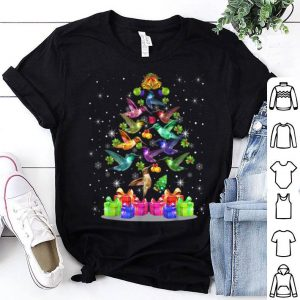 Awesome Hummingbirds Tree Christmas Gifts Xmas Hummingbird Lover sweater