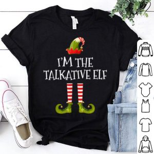 Awesome I'm The Talkative Elf Gift Tee Matching Family Christmas sweater