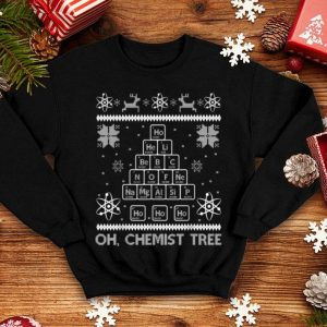 Awesome Oh Chemistree Funny Ugly Christmas Chemistry sweater