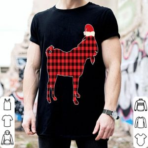Beautiful Christmas Billy-Goat Red Plaid Buffalo Pajamas Santa Hat sweater