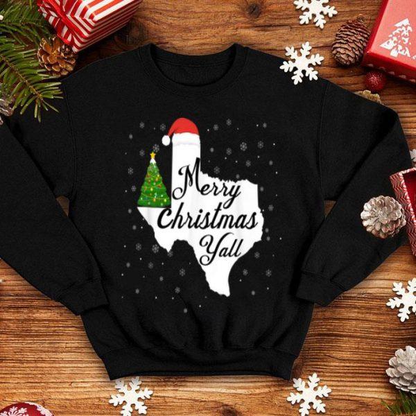 Beautiful Merry Christmas Yall Texas State Texan Holiday sweater