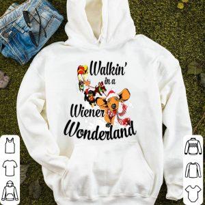Beautiful Walkin' In A Wiener Wonderland Merry Christmas 2019 sweater