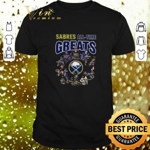 Cheap Buffalo Sabres all time greats player signatures shirt