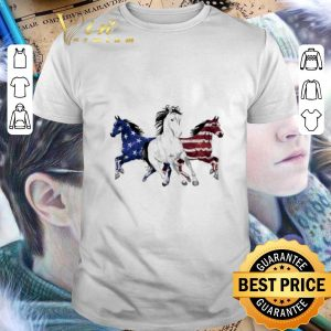 Cheap Red white and blue Horse American flag shirt