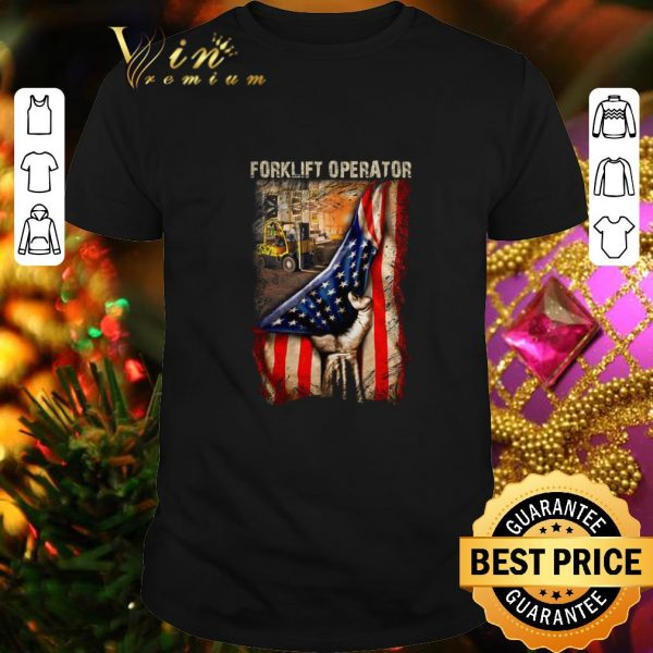 Funny American Flag Forklift Operator shirt