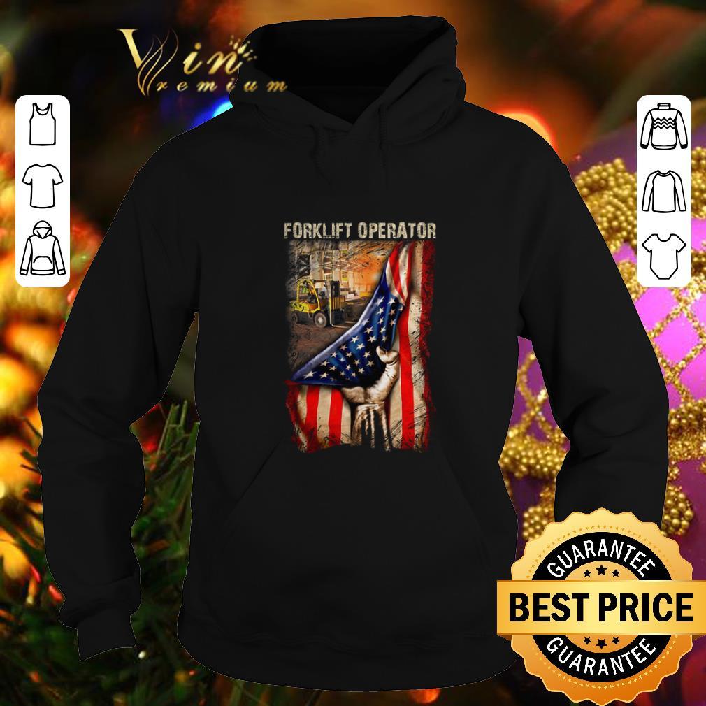 Funny American Flag Forklift Operator shirt 4 - Funny American Flag Forklift Operator shirt