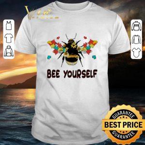 Funny Autism Flower Bee Yourself Autism Awareness shirt