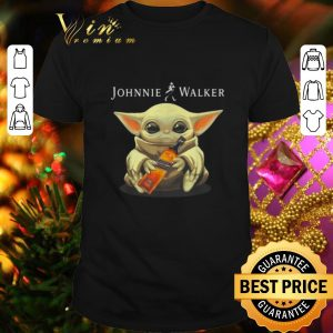 Funny Baby Yoda hug Johnnie Walker Whiskey Star Wars shirt