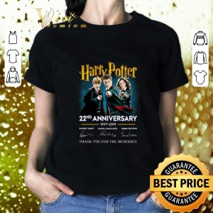 Funny Harry Potter 22nd anniversary signed thank you for the memories shirt
