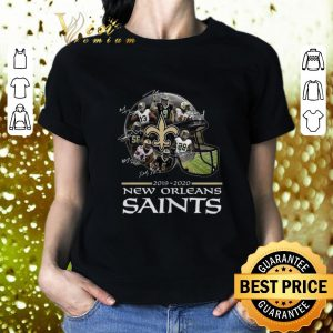 Funny New Orleans Saints 2019 2020 players all signature shirt