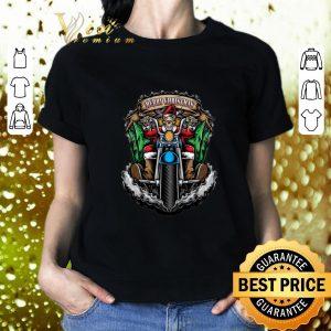 Funny Santa Skull Biker Merry Christmas shirt