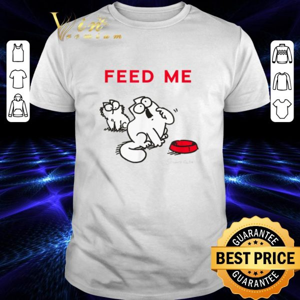 Funny Simon's Cat Feed Me shirt