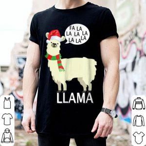 Nice Fa La La La Llama Cute Llama Christmas Tee sweater