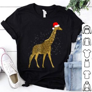 Nice Giraffe With Santa Hat Merry Christmas Holiday Funny sweater