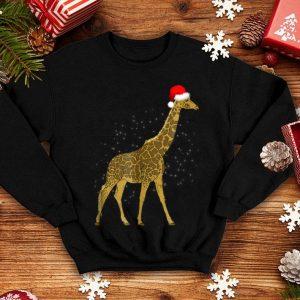 Nice Giraffe With Santa Hat Merry Christmas Holiday Funny sweater