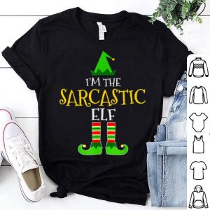 Nice I'm The Sarcastic Elf Matching Family Group Christmas sweater