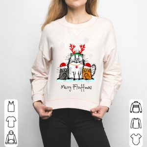 Nice Merry Fluffmas Funny Cat Lover Christmas Gift sweater