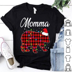 Nice Red Plaid Momma Bear Buffalo Matching Family Christmas sweater