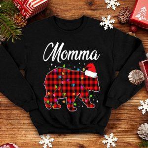 Nice Red Plaid Momma Bear Buffalo Matching Family Christmas sweater