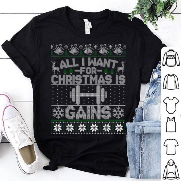 Official All I Want For Christmas Is Gain Fitness Ugly sweater