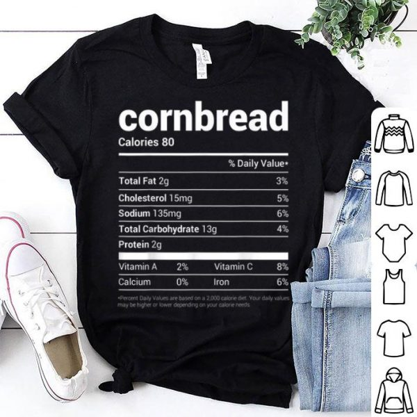Official Cornbread Nutrition Facts Tee Family Matching Christmas Gift sweater