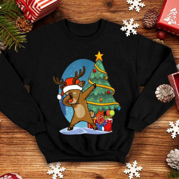 Official Funny Reindeer Dabbing Dance Christmas sweater