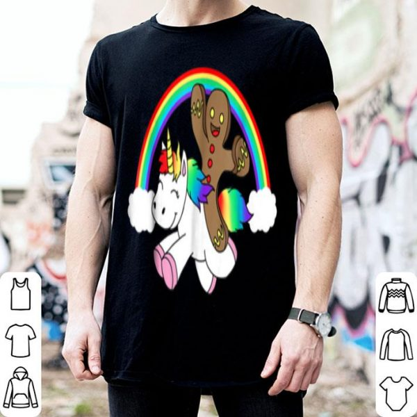 Official Gingerbread Man Riding a Unicorn Christmas Xmas Gift sweater