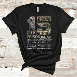Original 15th Years Of Prison Break Signatures Thank You For The Memories shirt
