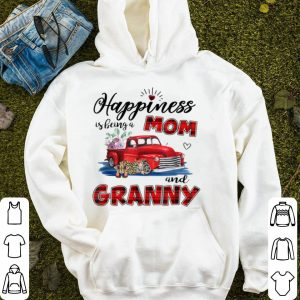 Original Christmas Happiness Is Being A Mom And Granny Truck Flower sweater