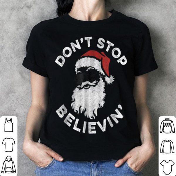 Original Don't Stop Believin' Cool Shades Santa sweater