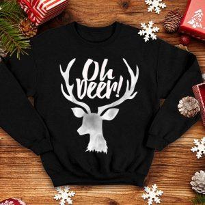 Original Funny Christmas Reindeer OH DEER Antler sweater