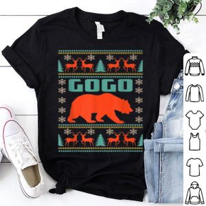 Original Gogo Bear Christmas Matching Family Ugly Plaid Gift sweater